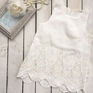 Other - White eyelet lace baby dress
